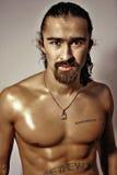 Uomo senza camicia sessuale Fotografia Stock Libera da Diritti