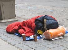 Uomo senza casa Immagine Stock Libera da Diritti