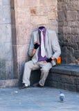 Uomo senza testa a Barcellona Immagine Stock