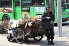Uomo senza tetto Fotografie Stock