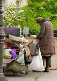 Uomo senza tetto a Parigi Fotografia Stock Libera da Diritti