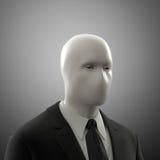 Uomo senza un fronte Fotografia Stock Libera da Diritti