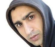 Uomo serio nella maglia con cappuccio Immagine Stock Libera da Diritti