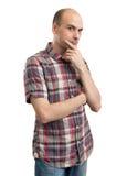 Uomo serio Pensive Fotografia Stock Libera da Diritti