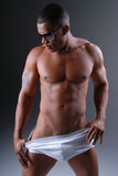 Uomo in biancheria intima. Fotografia Stock Libera da Diritti