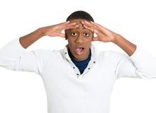 Uomo sgomento sorpreso Fotografia Stock Libera da Diritti