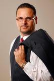 Uomo sicuro di affari Fotografia Stock