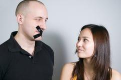 Uomo silenzioso Fotografia Stock