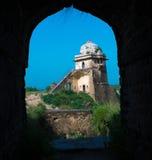 Uomo Singh Haveli nella fortificazione di Rohtas Fotografia Stock Libera da Diritti