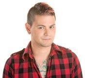 Uomo Smirking con capelli appuntiti Immagini Stock Libere da Diritti