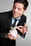 Uomo Sneaky dei soldi Immagine Stock Libera da Diritti