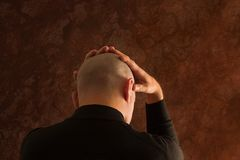 Uomo sollecitato Fotografia Stock Libera da Diritti