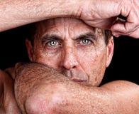 Uomo solo Fotografia Stock Libera da Diritti