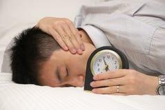 Uomo sonnolento Immagini Stock