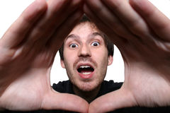 Uomo sorpreso Fotografie Stock