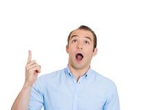 Uomo sorpreso Fotografia Stock Libera da Diritti