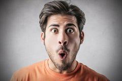 Uomo sorpreso Immagine Stock
