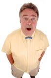 Uomo sorpreso del bowtie Immagine Stock Libera da Diritti