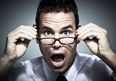 Uomo sorpreso di affari. Immagini Stock Libere da Diritti