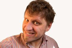 Uomo sorridente fotografia stock libera da diritti