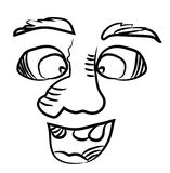 Uomo sorridente con un grande naso Immagini Stock Libere da Diritti