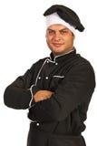 Uomo sorridente del cuoco unico Immagini Stock Libere da Diritti