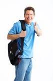 Uomo sorridente dell'allievo Fotografie Stock Libere da Diritti