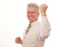 Uomo sorridente di affari Fotografia Stock