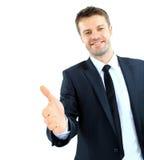 Uomo sorridente di affari Immagini Stock Libere da Diritti