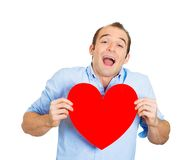 Uomo sorridente nell'amore Immagine Stock Libera da Diritti