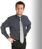 Uomo sorridente sicuro di affari Immagine Stock