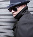Uomo sospettoso Fotografia Stock