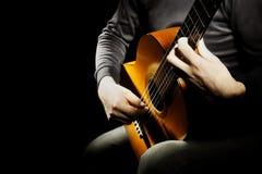 Uomo spagnolo della chitarra fotografia stock libera da diritti