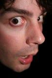 Uomo spaventato Fotografia Stock