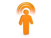 Uomo spiritoso arancione con alone visibile di colore Fotografia Stock Libera da Diritti