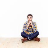 Uomo in studio Fotografia Stock Libera da Diritti