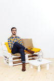Uomo in studio Immagine Stock