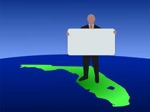 Uomo su Florida con il segno illustrazione di stock
