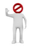 Uomo su priorità bassa bianca 3D isolato Fotografia Stock Libera da Diritti