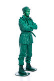 Uomo su un costume verde del soldatino Immagine Stock Libera da Diritti