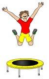 Uomo su un trampolino Fotografia Stock