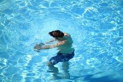 Uomo subacqueo Immagini Stock