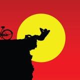 Uomo sul colore della montagna della scogliera Fotografia Stock Libera da Diritti