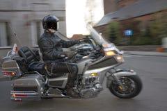 Uomo sul motociclo Fotografie Stock