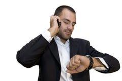 Uomo sul telefono immagini stock libere da diritti