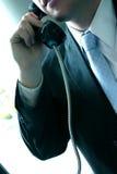 Uomo sul telefono Fotografie Stock