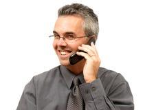 Uomo sul telefono delle cellule Immagine Stock Libera da Diritti