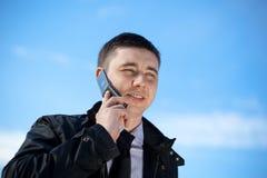 Uomo sul telefono mobile Fotografie Stock Libere da Diritti