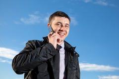 Uomo sul telefono mobile Fotografia Stock Libera da Diritti
