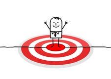 Uomo sull'obiettivo rosso illustrazione di stock